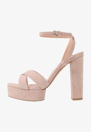 LEATHER - Sandaler med høye hæler - nude