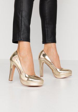 Klassiska pumps - light gold