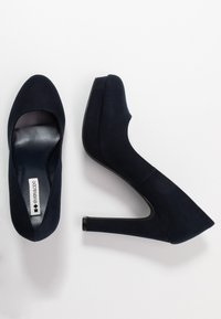 Even&Odd Wide Fit - Zapatos altos - dark blue - 3