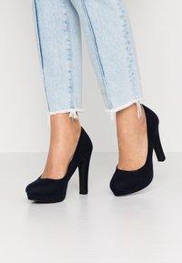 Even&Odd Wide Fit - Zapatos altos - dark blue - 0