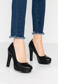 Even&Odd Wide Fit - Zapatos altos - black - 0