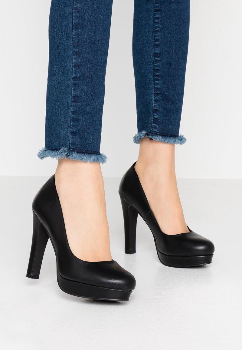 Even&Odd Wide Fit - Zapatos altos - black