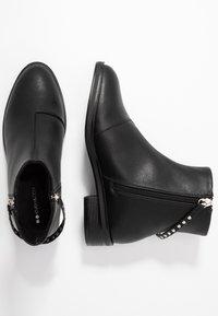 Even&Odd Wide Fit - Kotníkové boty - black - 3