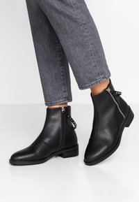 Even&Odd Wide Fit - Kotníkové boty - black - 0