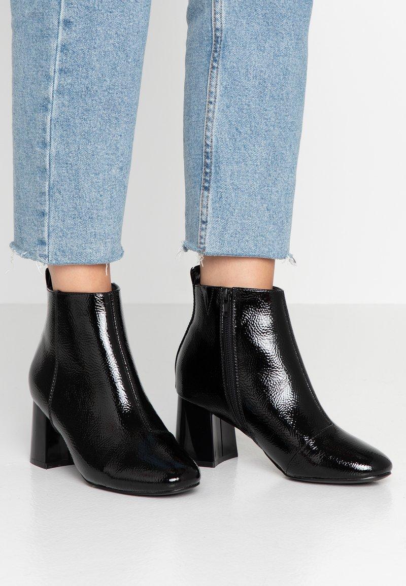 Even&Odd Wide Fit - Korte laarzen - black
