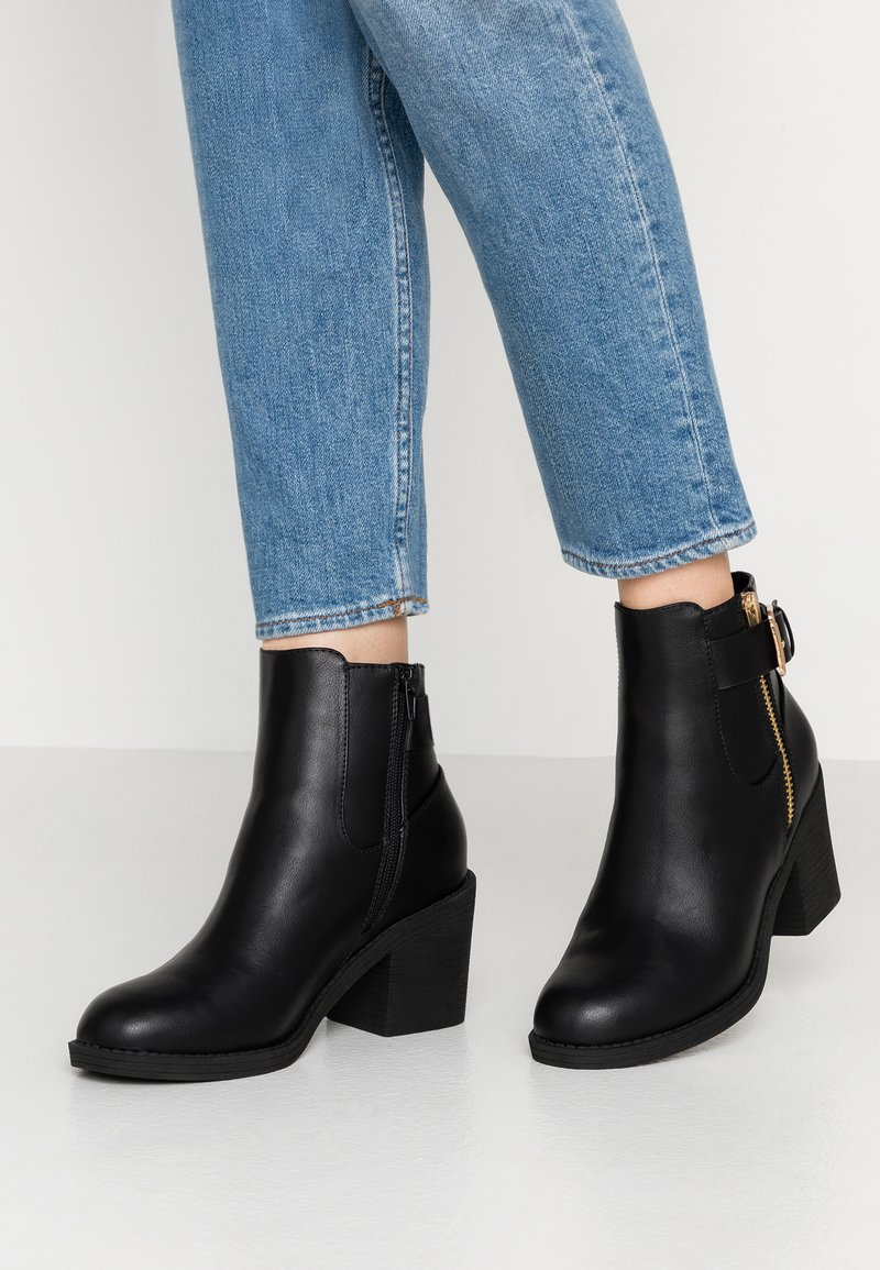 Even&Odd Wide Fit - Ankle Boot - black