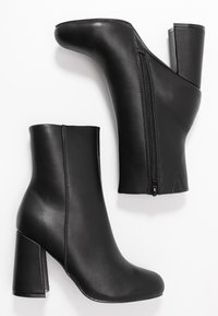Even&Odd Wide Fit - High heeled ankle boots - black - 3
