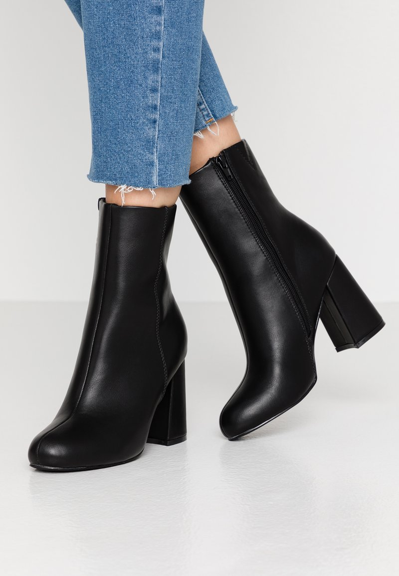 Even&Odd Wide Fit - High heeled ankle boots - black