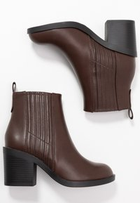Even&Odd Wide Fit - Boots à talons - brown - 3