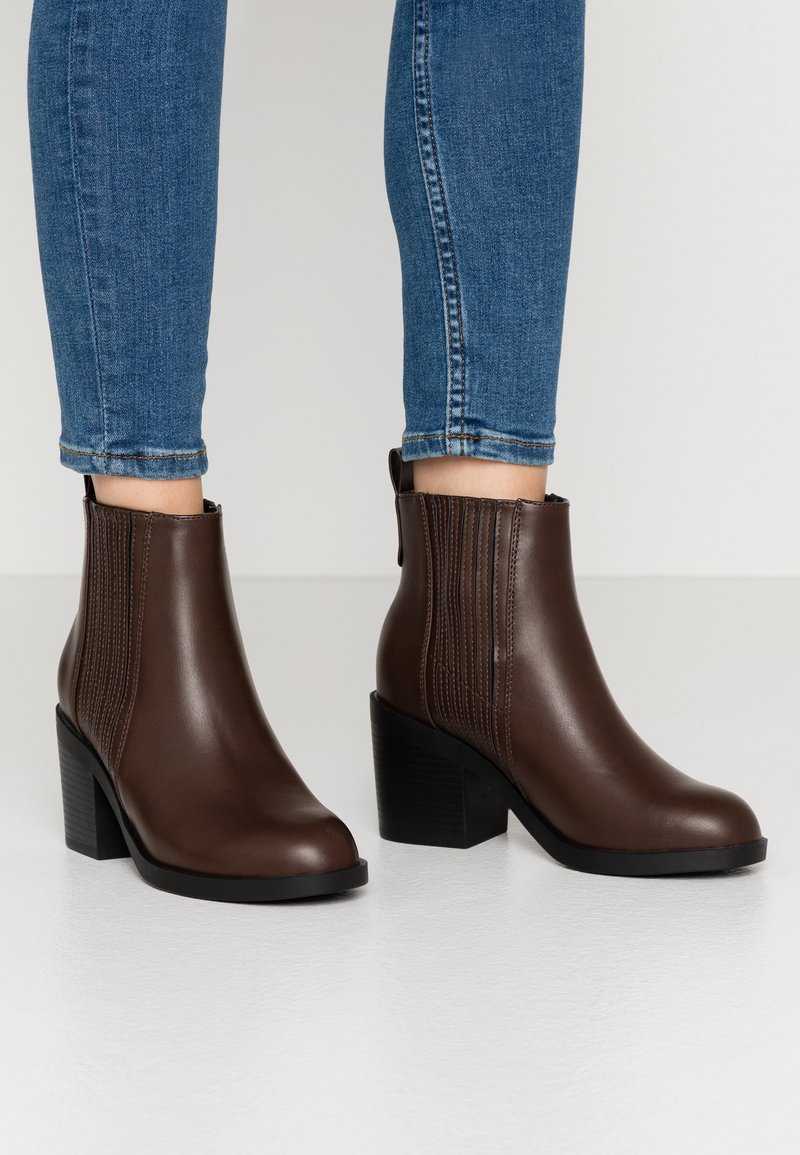 Even&Odd Wide Fit - Boots à talons - brown