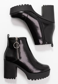 Even&Odd Wide Fit - Ankelboots med høye hæler - black - 3