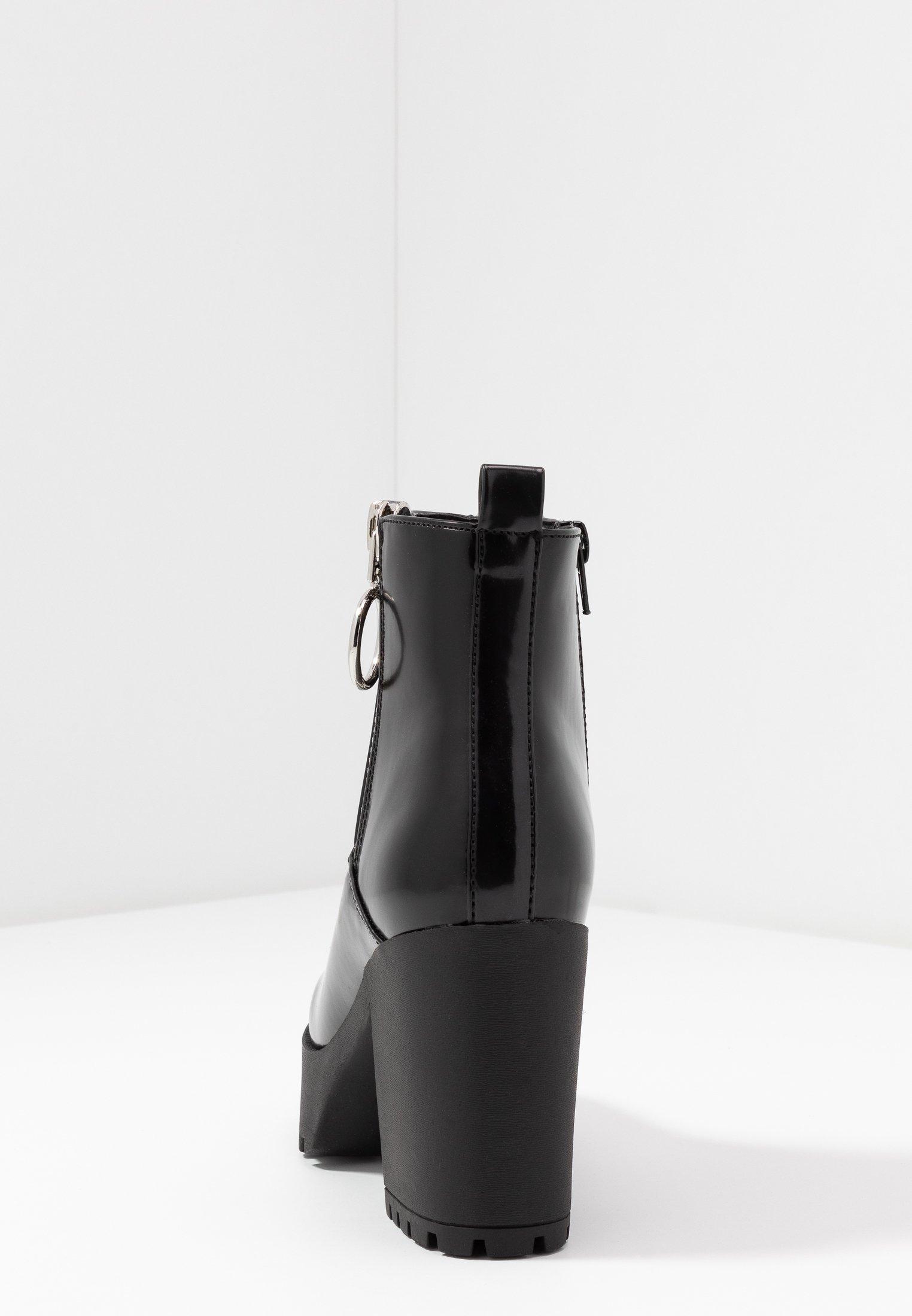 Even&Odd Wide Fit Botki na obcasie - black