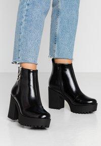 Even&Odd Wide Fit - Ankelboots med høye hæler - black - 0