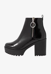 Even&Odd Wide Fit - Ankelboots med høye hæler - black - 1