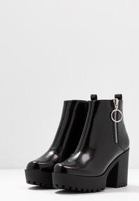 Even&Odd Wide Fit - Ankelboots med høye hæler - black - 4