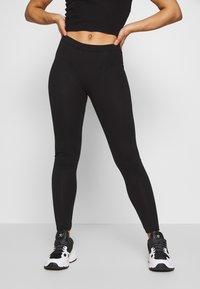 Even&Odd Petite - 2 PACK  - Leggings - black/black - 2