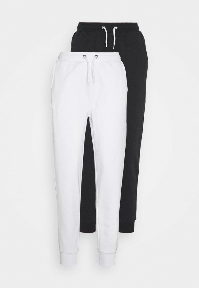 2 PACK  - Verryttelyhousut - white/black