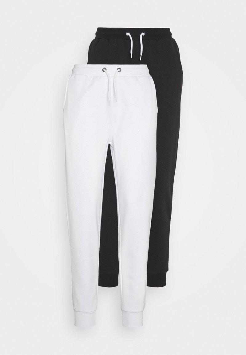 Even&Odd Petite - 2 PACK  - Spodnie treningowe - white/black