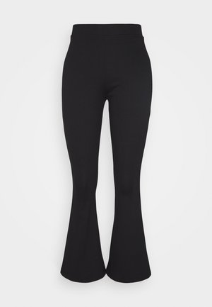 SEMI FLARED LEGGINGS  - Leggings - Trousers - black
