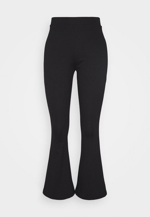 SEMI FLARED LEGGINGS  - Leggings - black