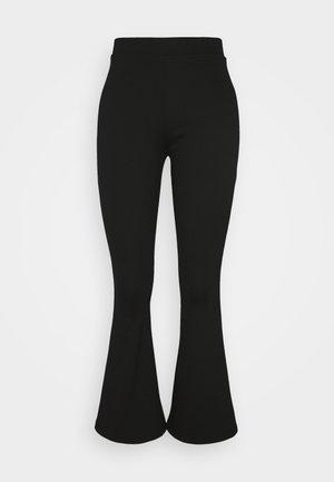 SEMI FLARED LEGGINGS  - Leggings - Trousers - black