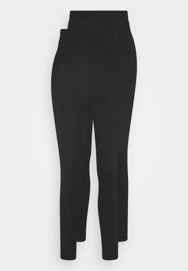 2 pack HIGH WAIST legging - Leggings - black