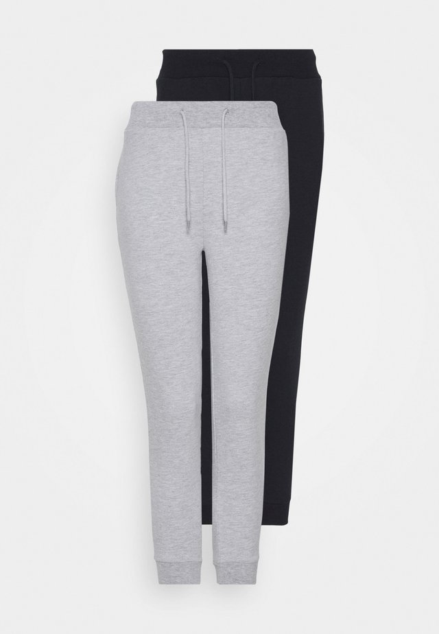 2 PACK SLIM FIT JOGGERS - Træningsbukser - black/grey