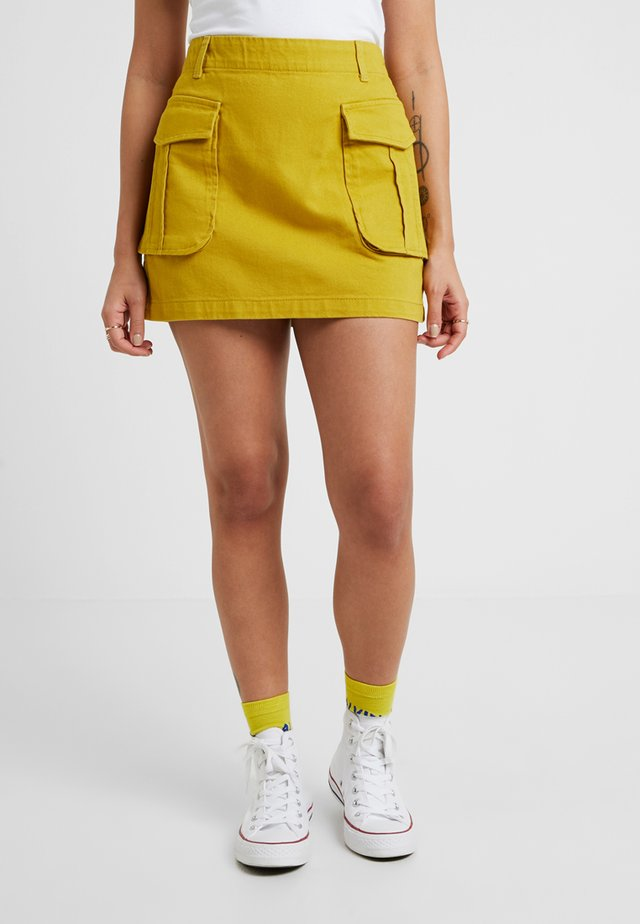A-line skirt - lime as per swatch