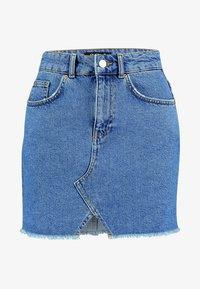 Even&Odd Petite - A-line skjørt - blue denim - 3