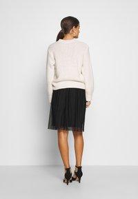 Even&Odd Petite - A-line skirt - black/black - 2