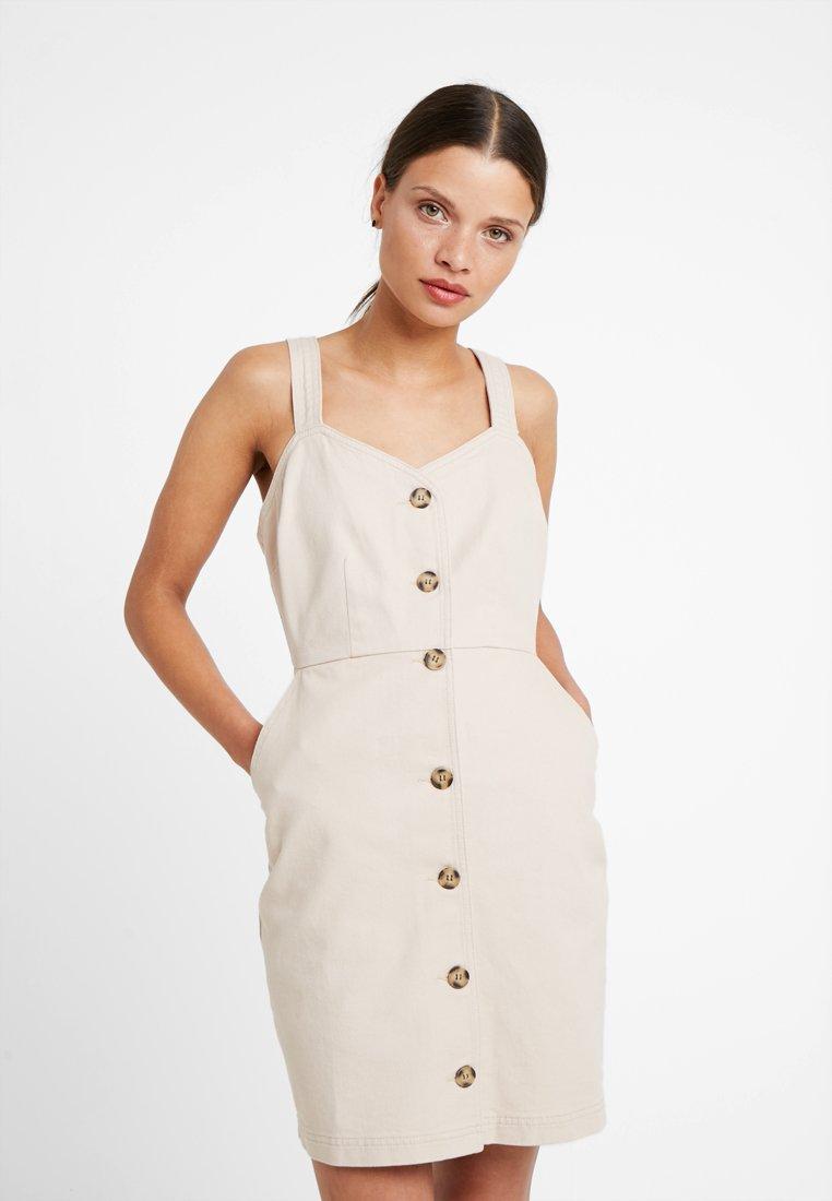 Even&Odd Petite - Denimové šaty - stone