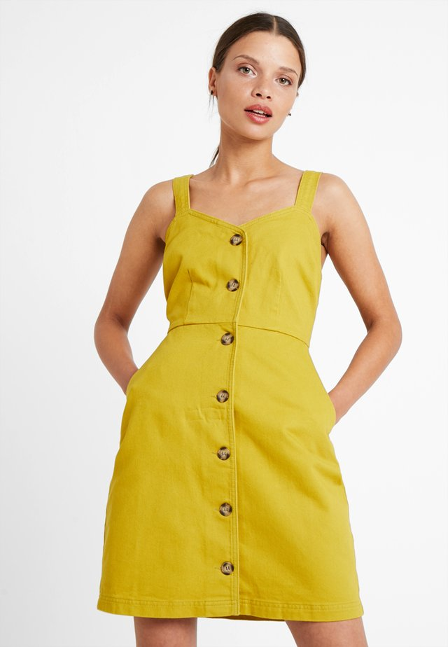 Denim dress - lime