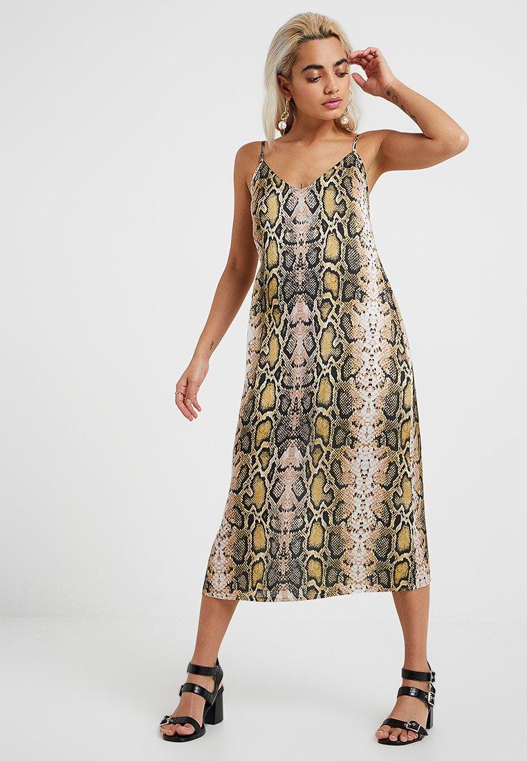 Even&Odd Petite - Denní šaty - dark gray/light yellow