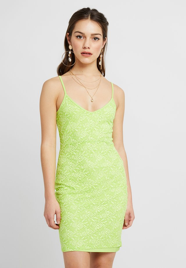 Shift dress - lime