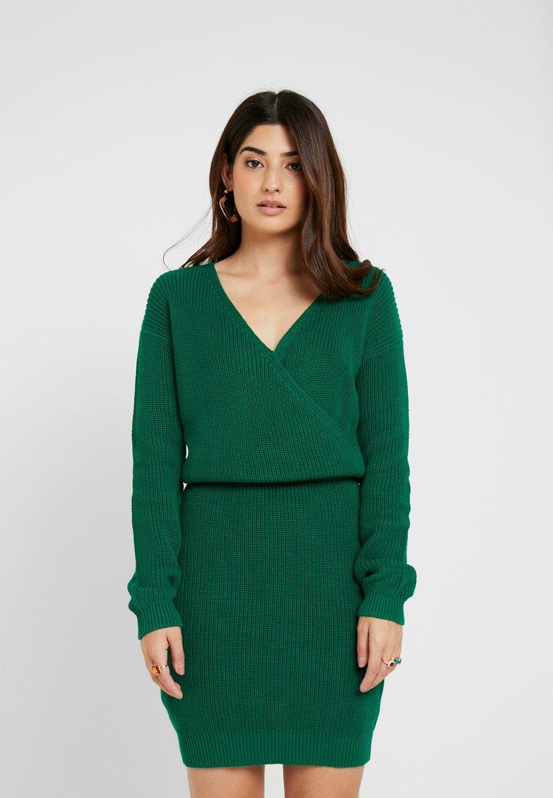Even&Odd Petite - Strickkleid - green