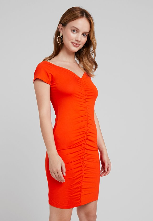 Shift dress - mandarine red
