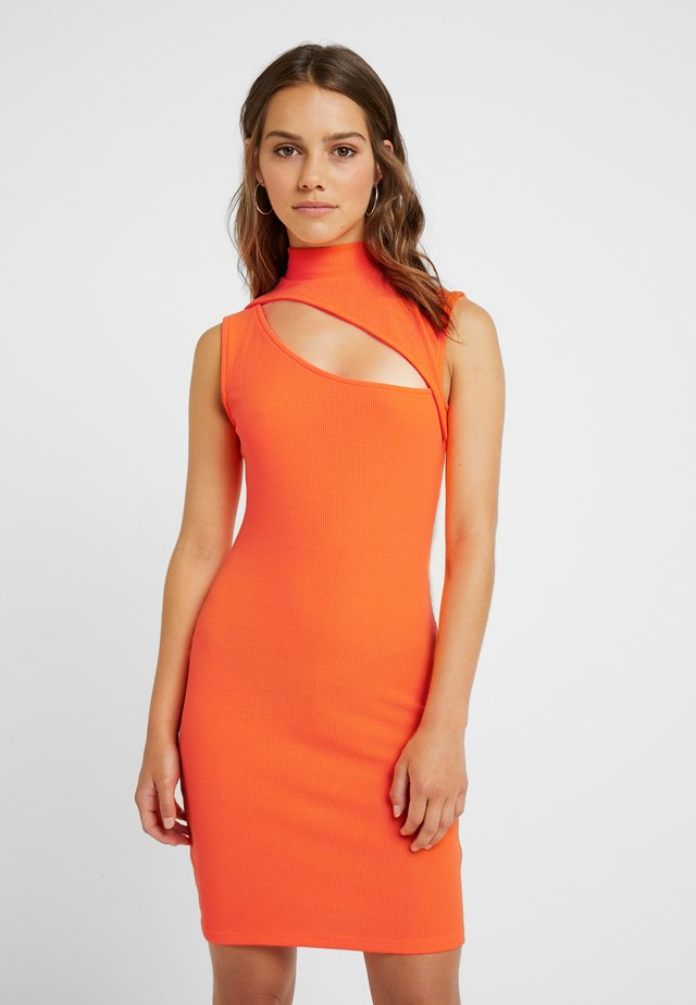 Shift dress - neon orange