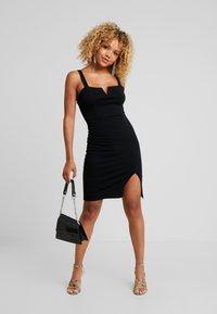 Even&Odd Petite - Shift dress - black - 2