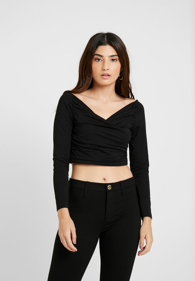 Even&Odd Petite - Langarmshirt - black