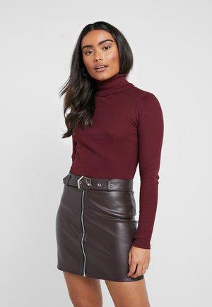 Bluzka z długim rękawem - beaujolais
