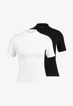 2ER PACK - T-Shirt print - white/black