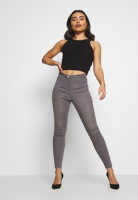Even&Odd Petite - 2 PACK - Top - light grey/black - 1