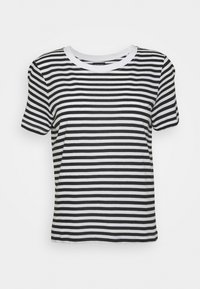 Even&Odd Petite - T-shirt con stampa - black/white - 3