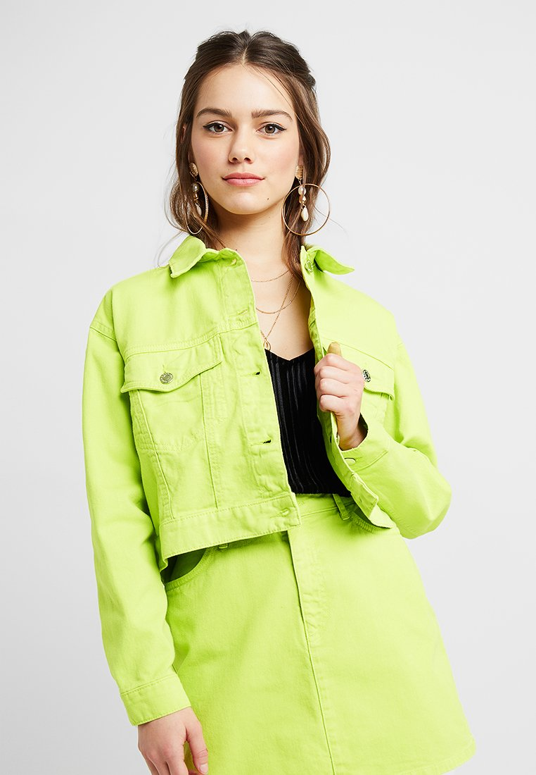 Even&Odd Petite - Denim jacket - lime as per swatch