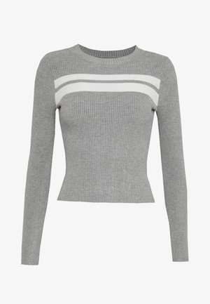Pullover - grey/white