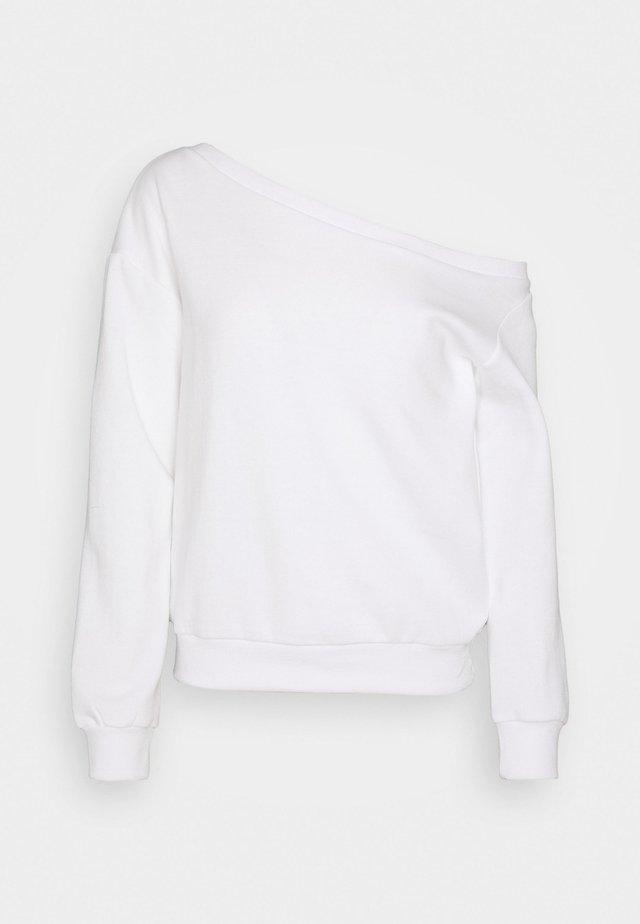 OFF SHOULDER - Sweatshirt - white
