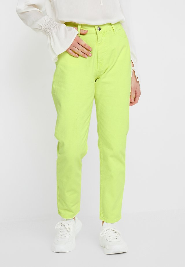 Straight leg jeans - lime