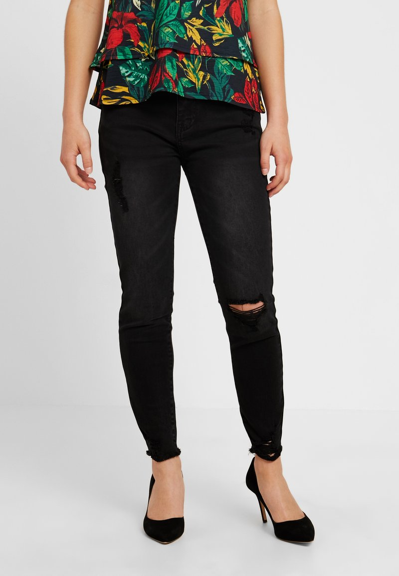 Even&Odd Petite - Jeans Skinny Fit - washed black
