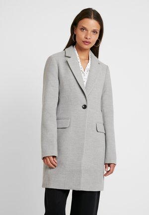 Manteau classique - mottled light grey