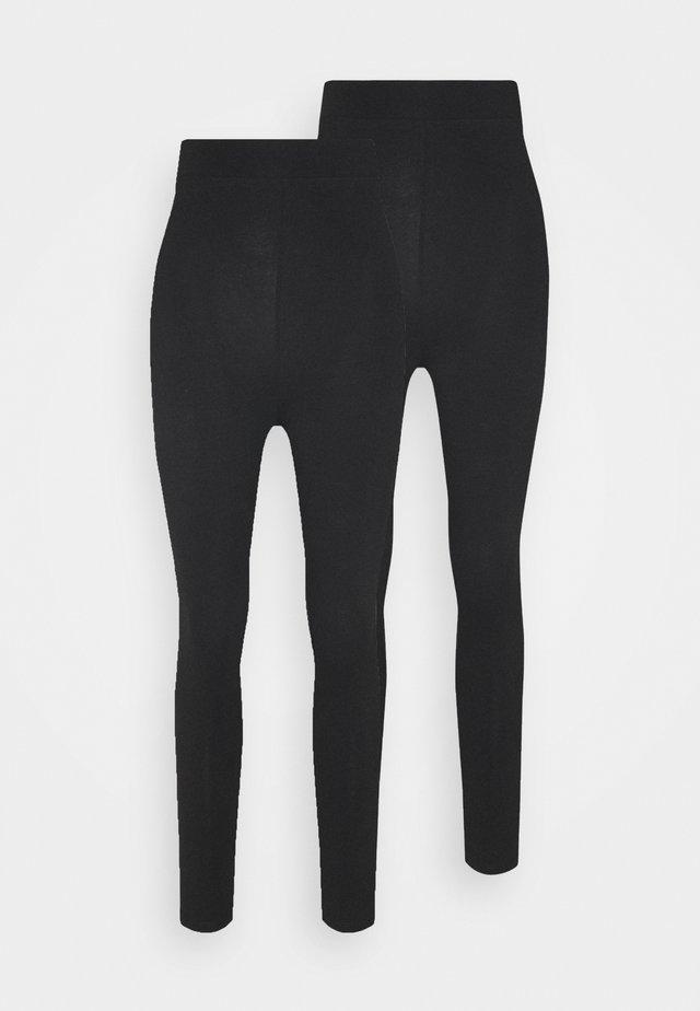 2 pack HIGH WAIST legging - Legíny - black